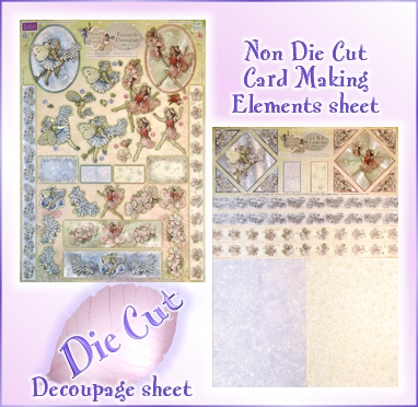 DISCONTINUED Flwr Fairies Chicory & Almond Blossom Decoupage Kit