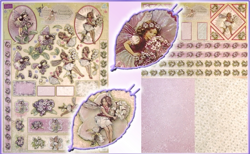 DISCONTINUED Flwr Fairies Heliotrope & Wild Cherry Blossom Decou