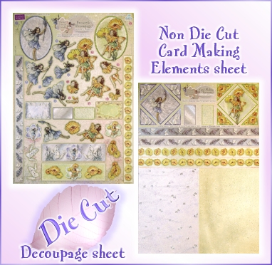 DISCONTINUED Flwr Fairies Lavender & Marigold Decoupage Kit