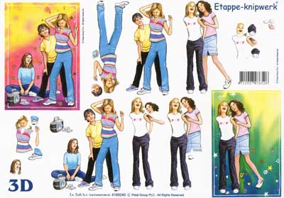 Le Suh Teenagers 3D Step by Step Decoupage
