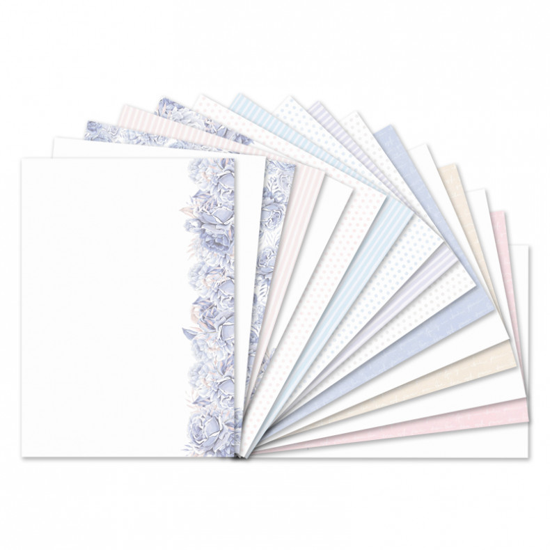 HD Personally Yours - Blossoming Blues Luxury Card Inserts
