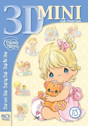 Little a6 book with 18 precious moments illustrations made in steps
