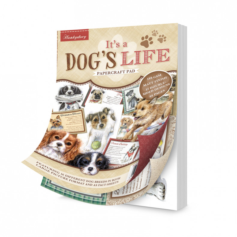 It\'s a Dog\'s Life A5 Papercraft Pad