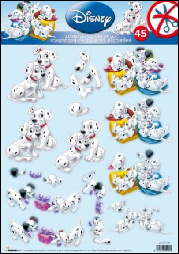 101 Dalmations 45 3D DIE DUT Step by Step Decoupage
