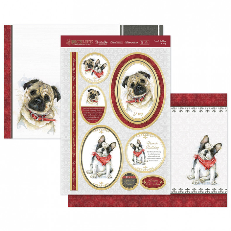 French Bulldog & Pug Luxury Topper Set
