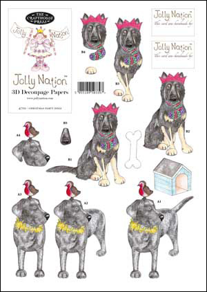 Jolly Nation Christmas Pets ~ Party Dogs