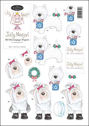 Jolly Nation Christmas Pets ~  Terriers