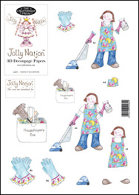 Jolly Nation Perfect Housewife 3D Decoupage
