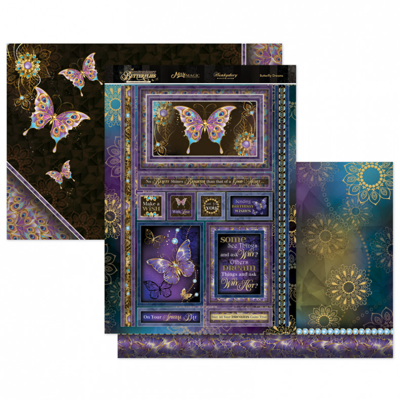 Midnight Butterflies - Butterfly Dreams Topper Set