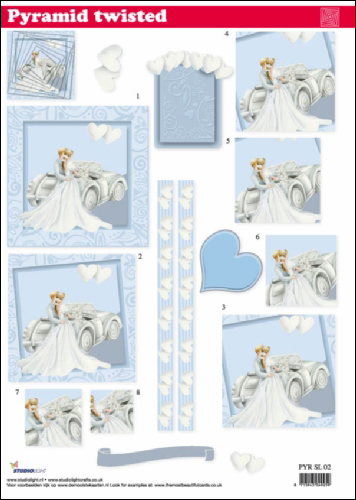 Twi Pyr Decoupage Wedding sl02
