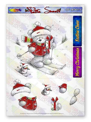 Pickles And Podge At Christmas A5 Petite Sheets Ski Delivery