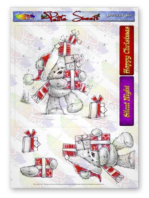 Pickles And Podge At Christmas A5 Petite Sheets Present Pile