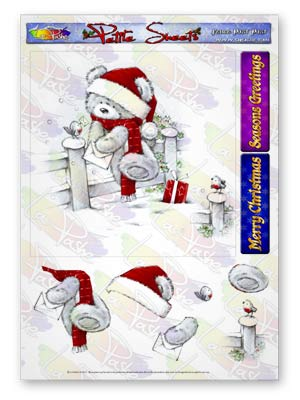 Pickles And Podge At Christmas A5 Petite Sheets Fence Post Post