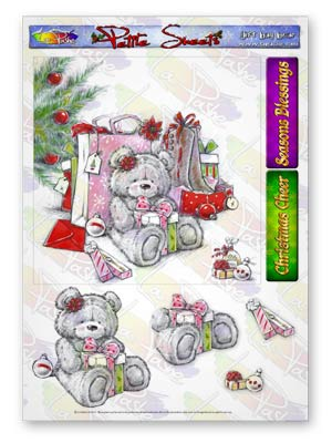 Pickles And Podge At Christmas A5 Petite Sheets Gift Bag Bear
