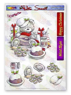 Pickles And Podge At Christmas A5 Petite Sheets Pudding Time