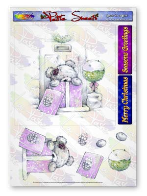 Pickles And Podge At Christmas A5 Petite Sheets Bear in a box
