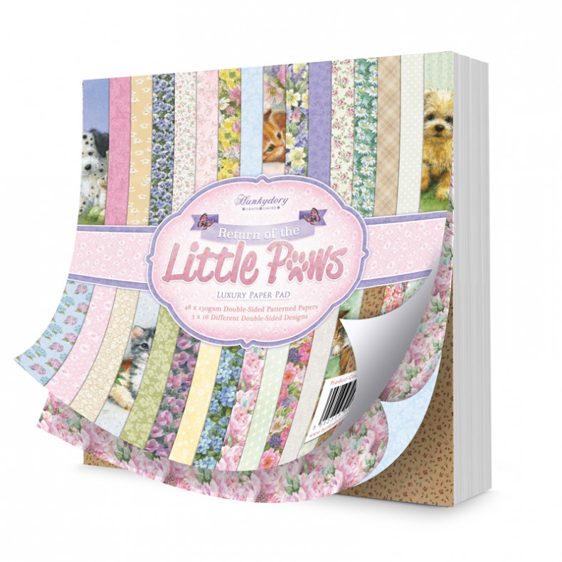 "HD Return of the Little Paws Luxury 8""x8\"" Paper Pad"