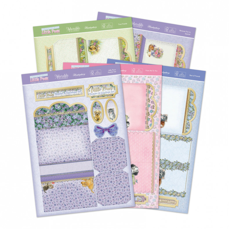 HD Return of the Little Paws Notelet Set