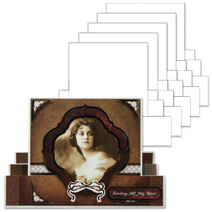 Hd Shaped Cards A5 Centre Stepper Card Blanks Jacques