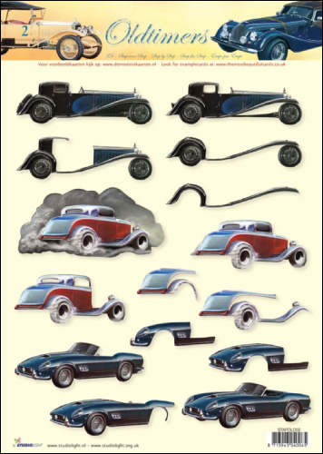 Old Timers Cars SBS 3D Decoupage 02