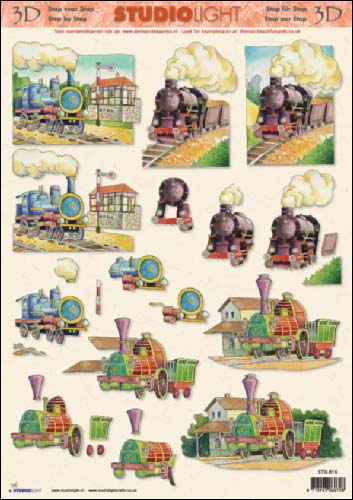 Trains 3D Step by Step Decoupage 816