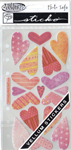 SweetHearts Vellum Stickos