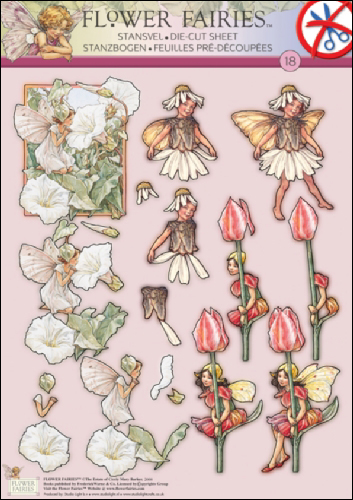 18 Flower Fairy 3D DIE CUT SBS Decoupage