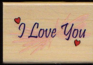 I love you W/M rubber stamp