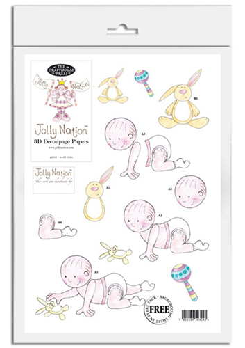 Jolly Nation Baby Girl DIE CUT Decoupage