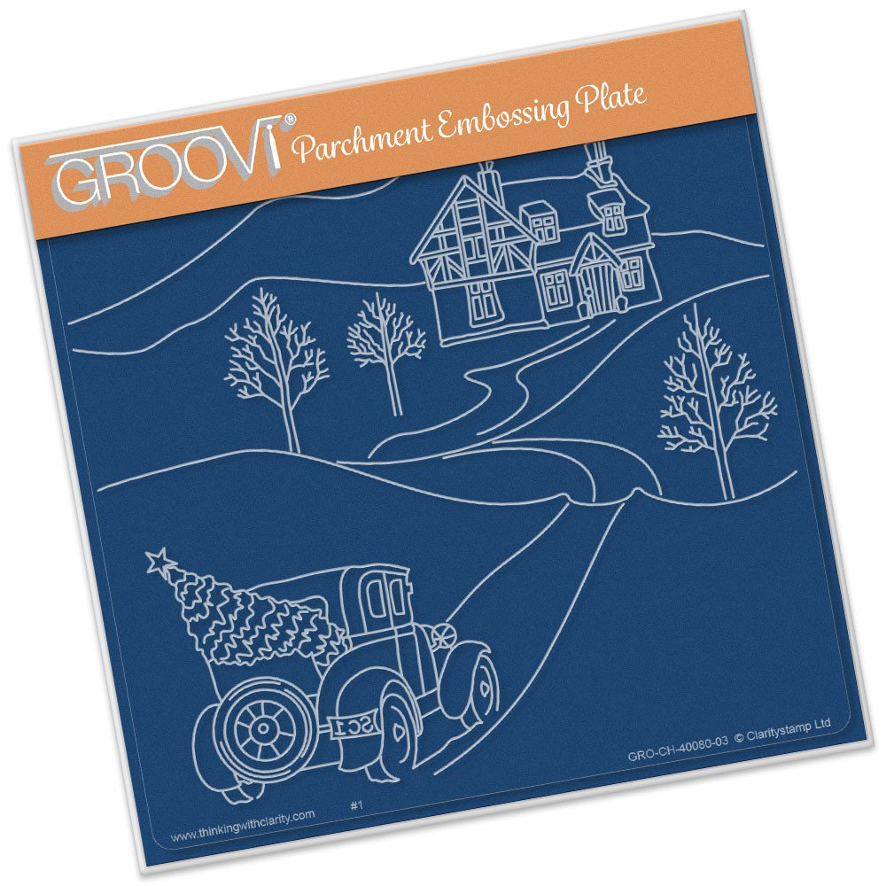 Groovi Country Cottage in the Snow Plate Set