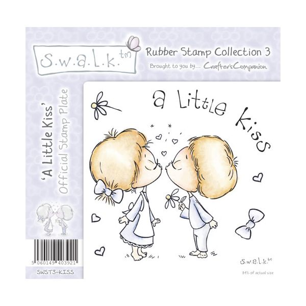 S.W.A.L.K. - Unmounted Rubber Stamp - A Little Kiss