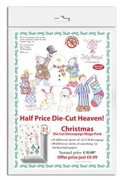 HALF PRICE DIE CUT Heaven CHRISTMAS Multi Pack