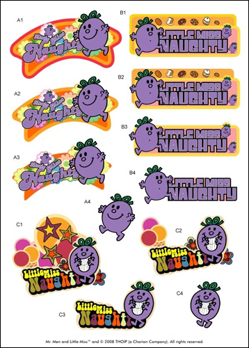 Mr Men DIE CUT Decoupage ~ Little Miss Naughty