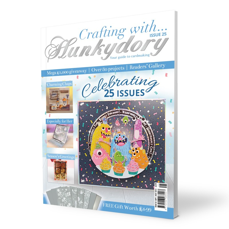 DISCONTINUED Crafting with Hunkydory - Issue 25 plus FREE gift