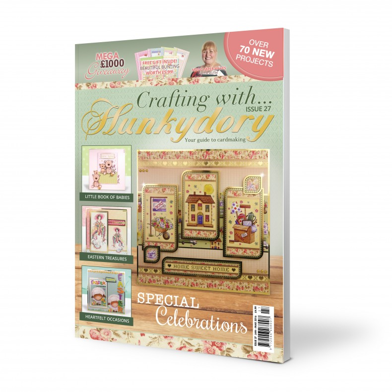 DISCONTINUED Crafting with Hunkydory  - Issue 27 plus FREE gift