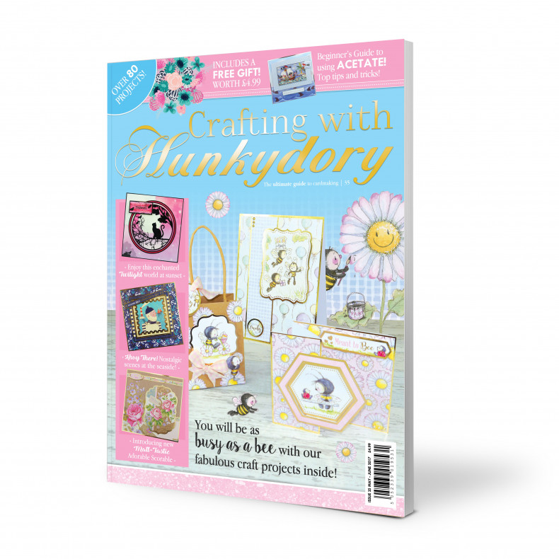 DISCONTINUED Crafting with Hunkydory - Issue 35 plus FREE gift