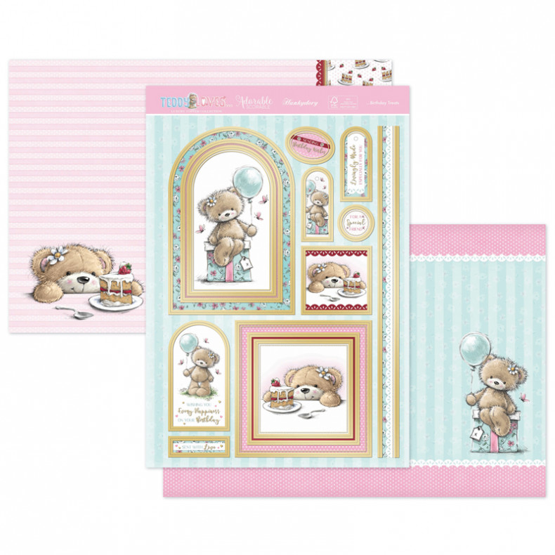Teddy Loves… Birthday Treats Luxury Topper Set