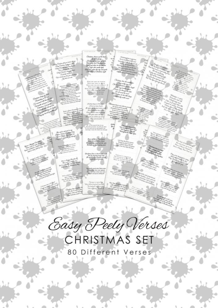 Easy Peely Verses for Cards - Christmas Set