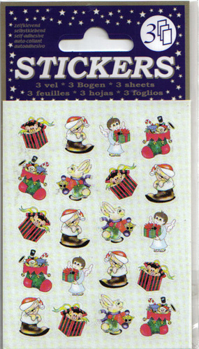 3 Sheets Assorted Christmas Stickers 1