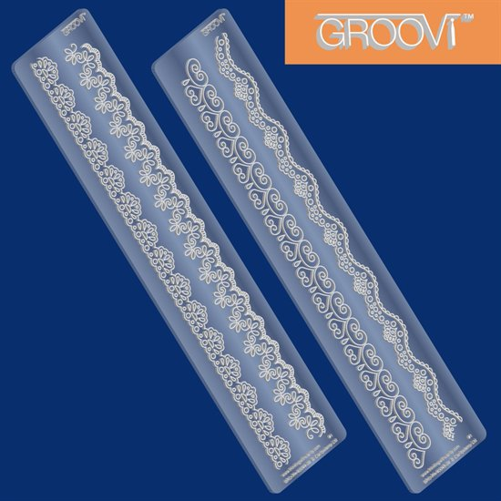 Groovi Lace Border Plates 1 and 2 Set
