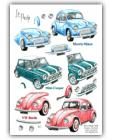 Popular Cars ~ Mini Decoupage by La Pashe