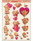 Teddy with heart 3D Step by Step Decoupage 381
