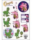 Clangers Soup Dragon and Sm Clanger 3D Step by Step Decoupage