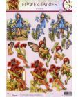 239 Flower Fairy 3D DIE CUT SBS Decoupage
