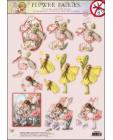 49 GLITTERED Flower Fairies 3D DIE CUT 3D SBS Decoupage
