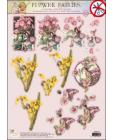 50 GLITTERED Flower Fairies 3D DIE CUT 3D SBS Decoupage