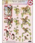 51 GLITTERED Flower Fairies 3D DIE CUT 3D SBS Decoupage