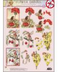 52 GLITTERED Flower Fairies 3D DIE CUT 3D SBS Decoupage