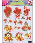 GLITTERED Christmas 58 DIE CUT 3D SBS Decoupage
