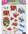 GLITTERED Christmas 59 DIE CUT 3D SBS Decoupage
